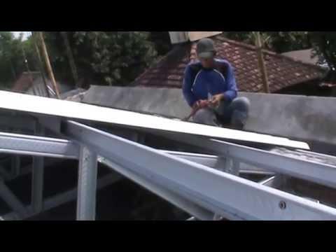 Rangka Baja Ringan Untuk Atap Asbes Pasang Galvalum Youtube