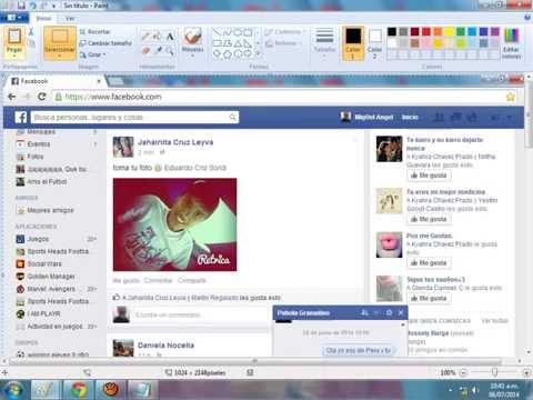 Como Capturar Imagen O Chat De Facebook. 2014 ( Sin Programas ).