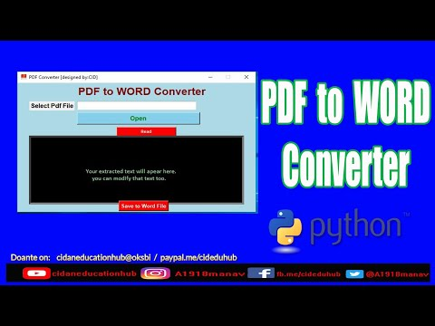 Make Pdf To Word File Converter App In Python