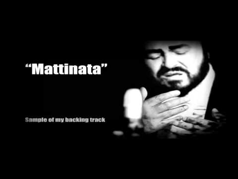 Mattinata by Pavarotti karaoke instrumental backing track