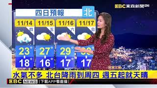 氣象時間 1081113 晚間氣象 東森新聞