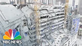 Drone Video Shows Aftermath Of Hard Rock Hotel Collapse | NBC News