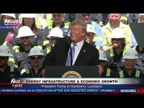FULL SPEECH: President Trump on energy infrastructure, the economy in Hackberry, LA