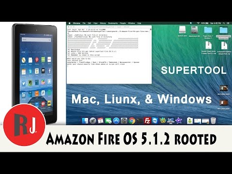 How to root the Amazon Fire 5th gen 7in on Fire OS 5 1 2 SuperTool Mac linux and Windows