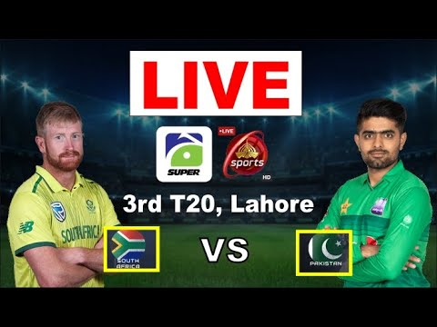 Pakistan Vs South Africa 3rd T-20 Live Match Update Today || Pakistan Vs South Africa Live