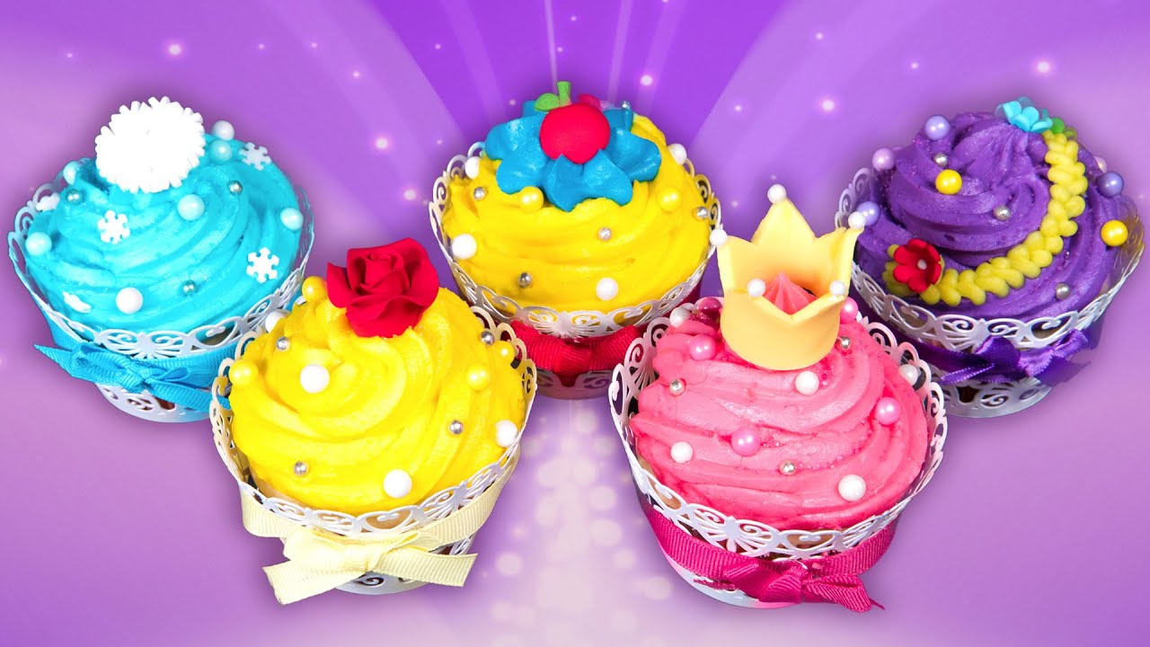 Disney Princess Cupcakes W Gemma Stafford Aurora Belle Rapunzel Snow White Elsa