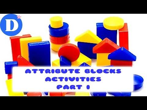 Развивающие игры для детей с БЛОКАМИ ДЬЕНЕША Часть 1 Attribute Blocks Activities