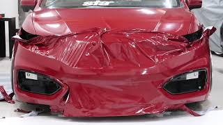 FINISHED!! Wrapping a 9thgen Honda Civic in Gloss Dark Burgundy