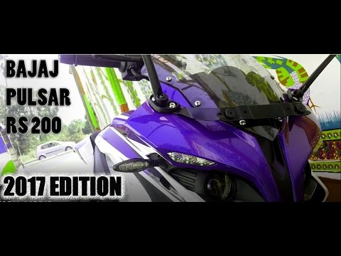 Bajaj Pulsar RS200 | Racing Blue Edition 2017 First Look Walkaround | Exhaust | Review hindi
