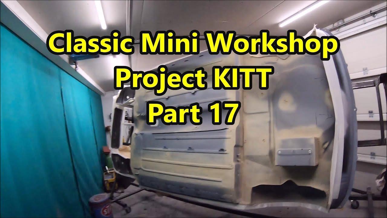 classic mini workshop - project kitt pt. 17 - underbody seam sealing &  stone chip