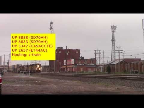 BNSF & UP trains from Grand Island to Alda,NE on August 6,2017