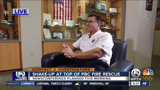 Embattled former Palm Beach County fire chief to hold news conference