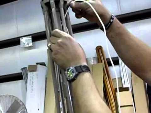 how to restring an auto tilt umbrella flv