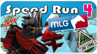 ROBLOX - Speed Run 4 MLG NO DEATH COMPLETION