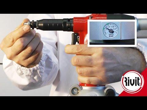 RIV942 Пневмогидравлический заклепочник (видео 1)