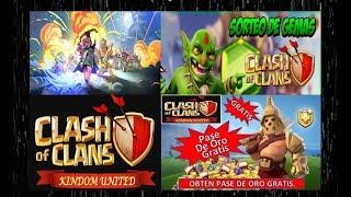 Gemas Gratis Para Clash of clans 2019 - Segundo sorteo Kindom United -Pase de oro Gratis .