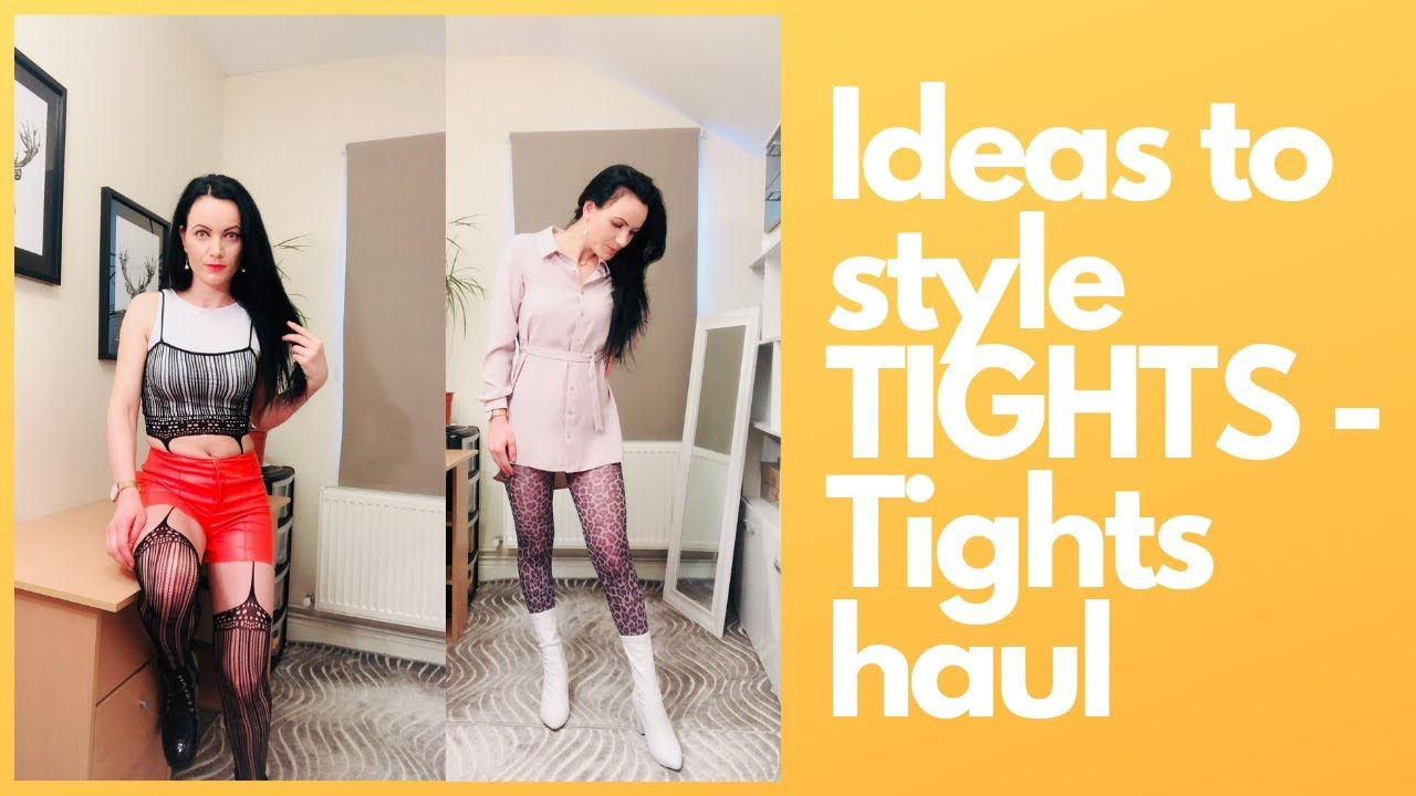 Tights try-on  Ideas to style TIGHTS - tights haul