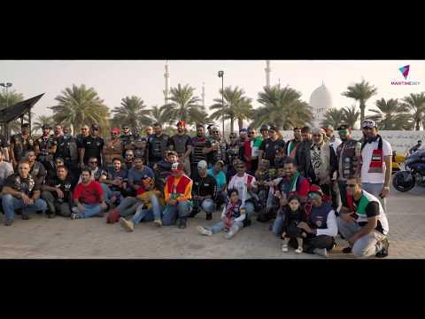 Motorbike Rally at UAE National Day  Dubai Mina Rashid to Abu Dhabi