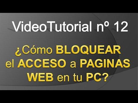 TPI - Videotutorial nº 12 - Como bloquear el acceso a Paginas Web desde nuestro ordenador