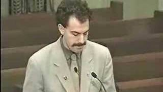Borat at the Oklahoma City Traffic Commission (1 of 2)