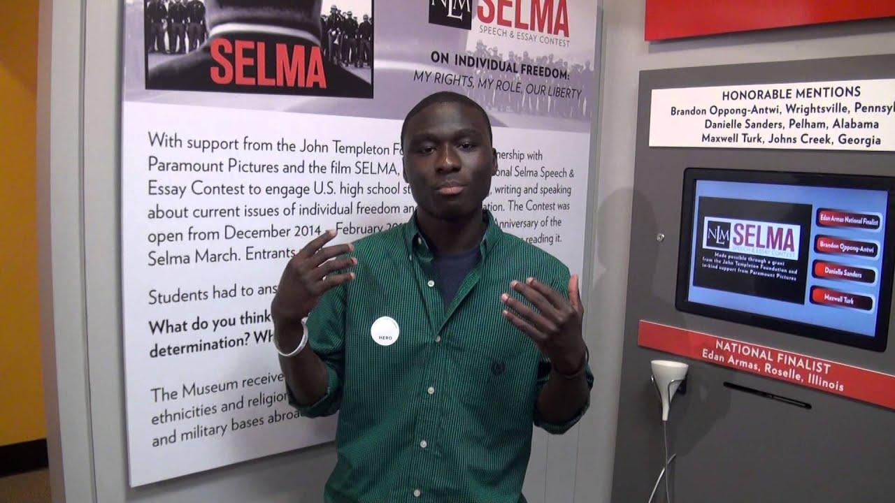 nlm selma speech and essay contest