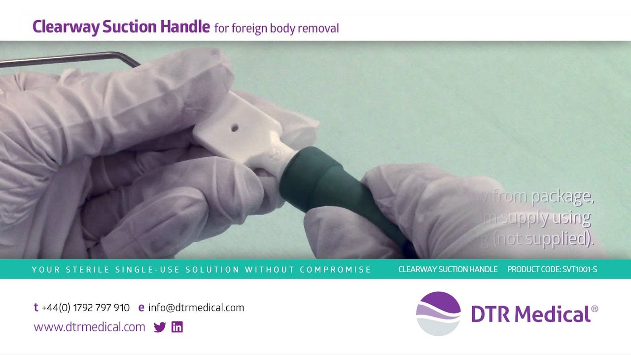 DTR Medical\'s Clearway Suction Handle for Foreign Body Removal ...