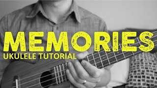 Memories - Maroon 5 (EASY Ukulele Tutorial) - Chords - How To Play