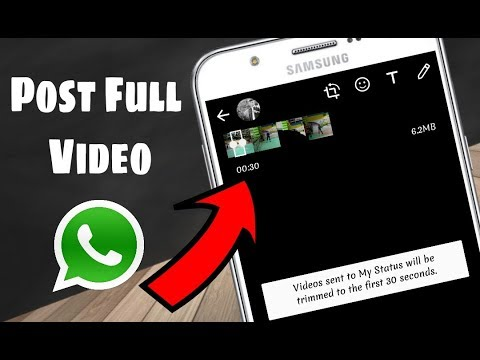 How To Post More Than 30 Seconds Video On Whatsapp Status New Whatsapp Tricks And Hacks 2018