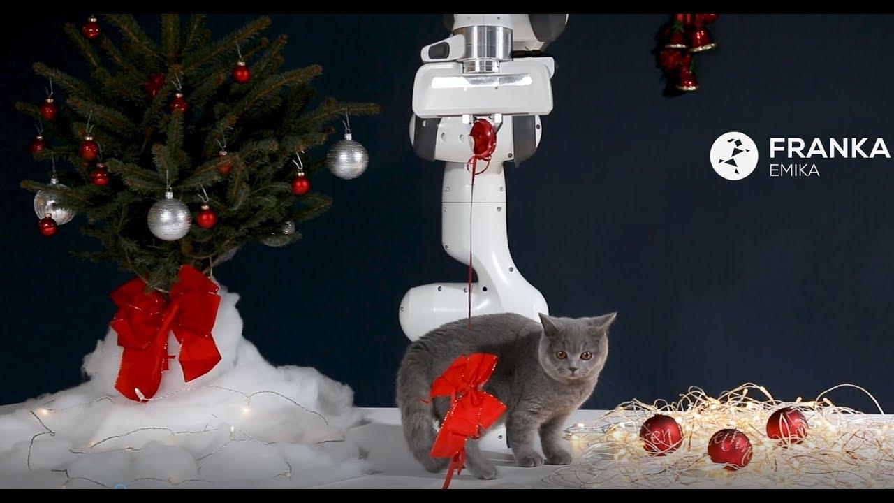 Merry Christmas From Franka Emika S Robot Panda And The