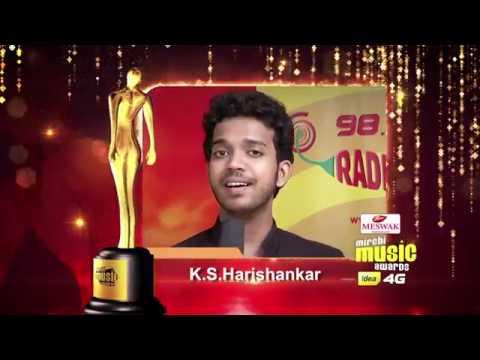 Upcoming male vocalist | K S Harishankar | Mirchi music awards south 2015