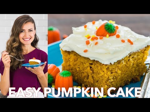 Easy Pumpkin Cake Recipe With Cream Cheese Frosting