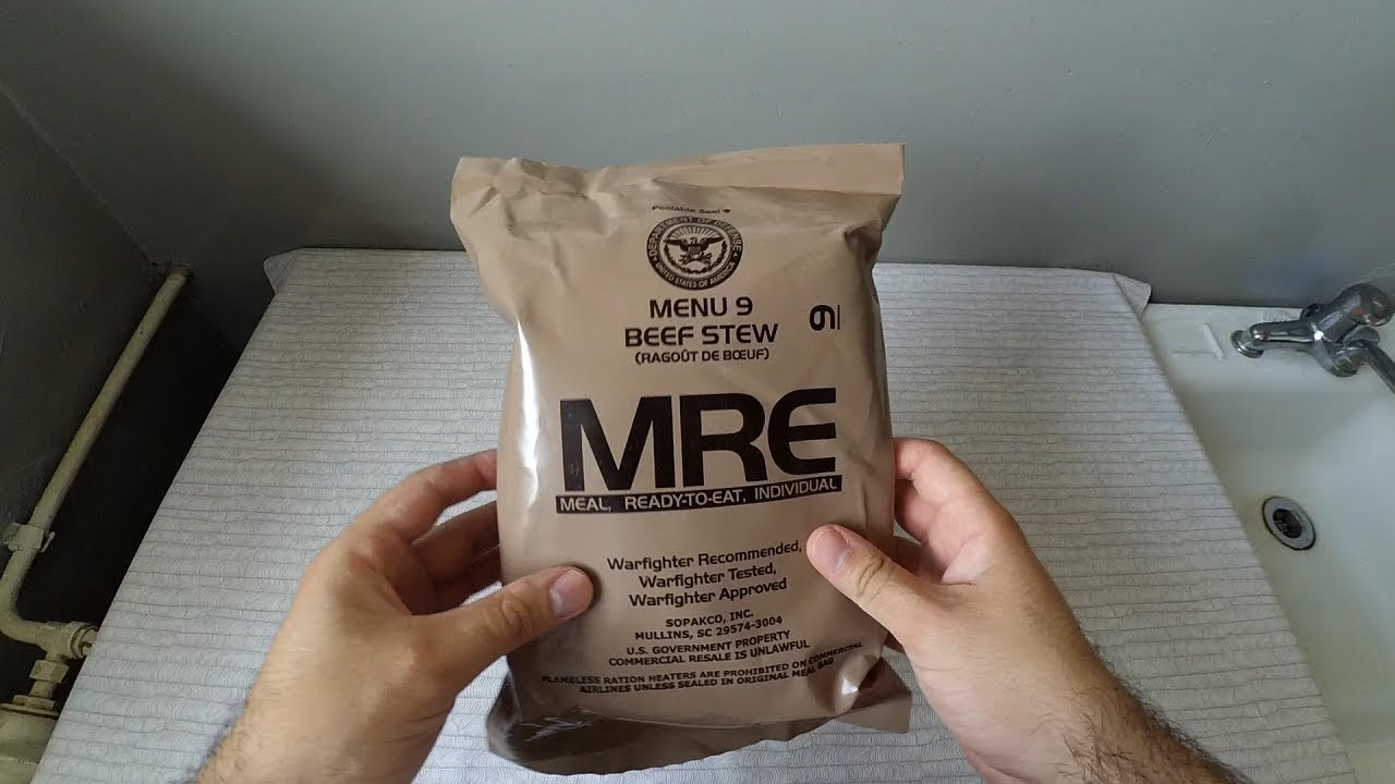 RATIE MILITARA AMERICANA (MRE): BEEF STEW [Ce contine?]