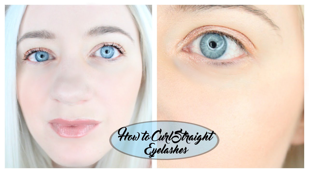 How To Curl Straight Eyelashes and Keep Them Curled All ...