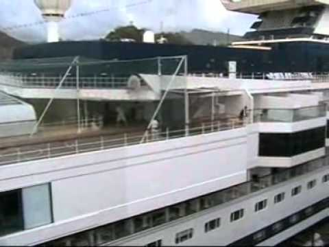Celebrity Galaxy & P&O Arcadia Cruise Ships together in Grenada