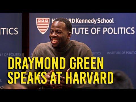 At Harvard, Draymond Green discusses activism