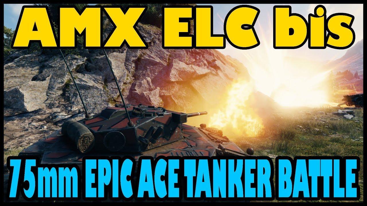 World Of Tanks Amx Elc Bis 75mm Ace Tanker Epic Serene Coast Battle