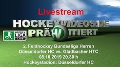 2. Feldhockey-Bundesliga Herren DHC vs. GHTC 08.10.2019 Livestream
