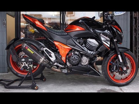 Kawasaki Z800 Black Orange