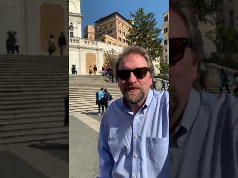 Dale Ahlquist in Rome Day 3 Spanish Steps