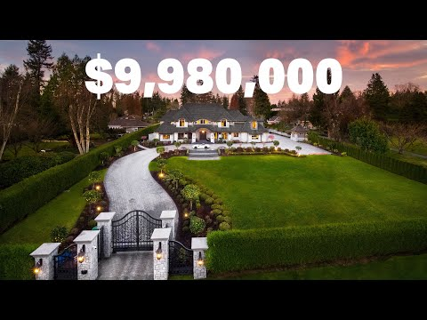 A look inside this Grand-Scale Luxury Estate Residence   $9,980,000