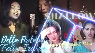 Download Mp3 Our very first time reacting to Della Firdatia feat Felix Irwan doing their cover of Shallow