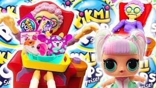 LOL Surprise Dolls Greedy Granny Game w Pikmi Pops! Featuring Unicorn, Sugar Queen, and Treasure!