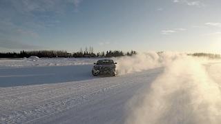 بالفيديو.. سيارة لوسيد الكهربائية ترقص على الجليد