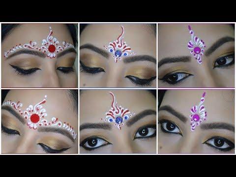 ❤💙💜 3 Easy Bindi Designs For Bengali Bridal Makeup | Chandan Art | Kum Kum Art | My OBSESSion