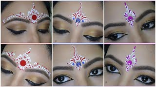 ❤💙💜 3 Easy Bindi designs for Bengali Bridal makeup | Chandan Art | Kum Kum Art | My OBSESSion