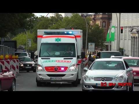 Hamburgs Shampo Rettung im Einsatz [RTW + KTW -Seltene Kombination] GARD Hamburg  (HD)