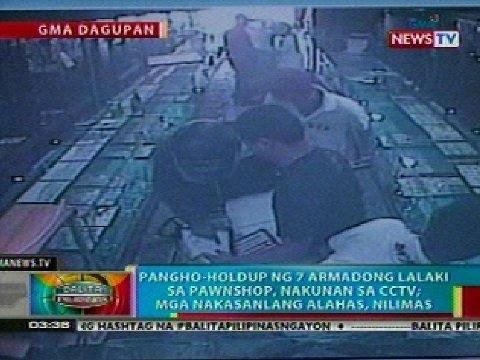 BP: Pangho-hold up sa isang pawnshop sa Dagupan City, nakunan ng CCTV