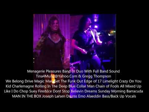MENAGERIE PLEASURES DUO Full Band Sound Tina Hoffman & Gregg