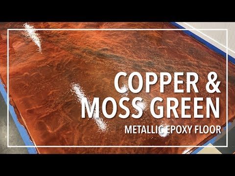 Copper and Moss Green Epoxy Floor | Simple Process!