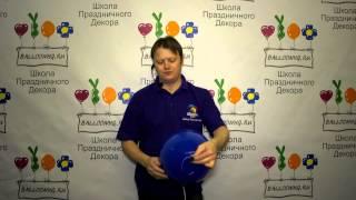 видео Фольгированные шары и фигуры, надутые гелием